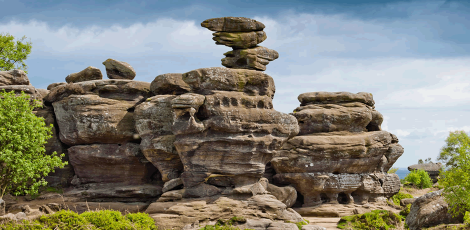 Brave the dizzy heights of Brimham Rocks, Harrogate