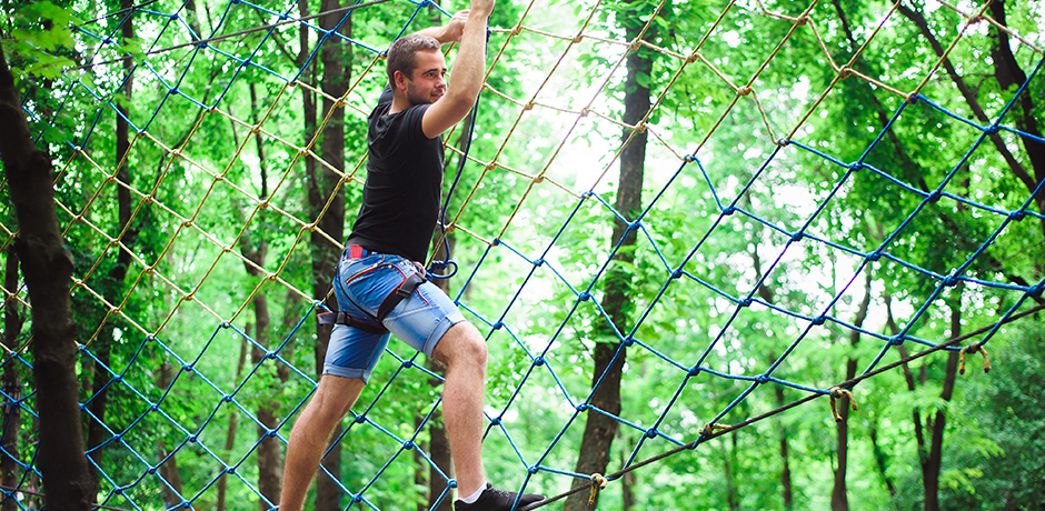 Climb the ropes at Camp Hill Estate, Bedale